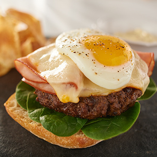 Open-Faced Ham & Burger Melt