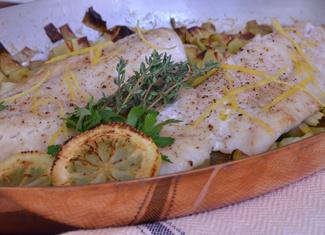 Oven-Roasted Pacific Rockfish with Leeks, Potatoes & Lemon Mayonnaise