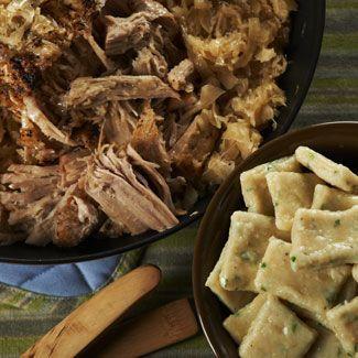 Pork & Sauerkraut with Chive Dumplings