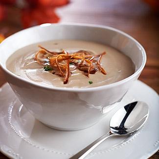 Roasted Chestnut & Parsnip Soup