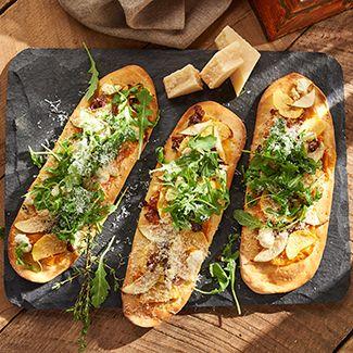 Roasted Vegetable Flatbread Pizza