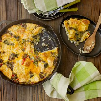 Sausage, Biscuit, and Egg Casserole