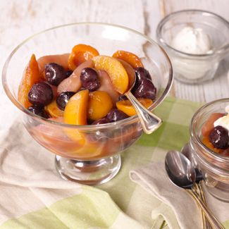 Spring Fruit Compote with Cinnamon