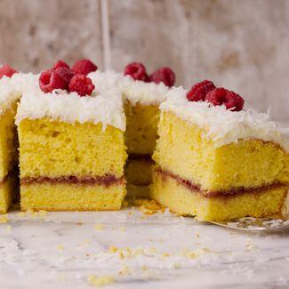 Springtime Lemon-Raspberry Coconut Cake