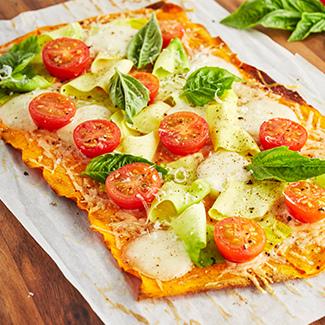 Summer Vegetable Tart with Sweet Potato Crust