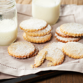 Sweet and Salty Shortbread Cookies
