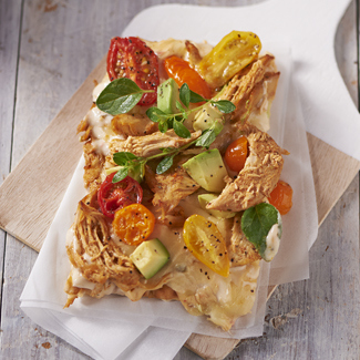 Pulled Chicken Flatbread Pizza