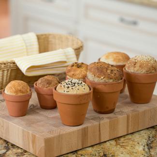 Bread in a Flower Pot
