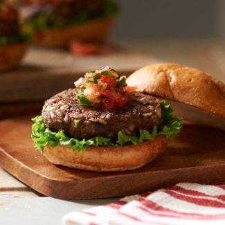 Black Bean Burger with Fresh Salsa