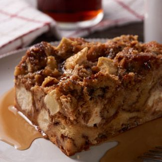 Apple Cinnamon Roll Bread Pudding