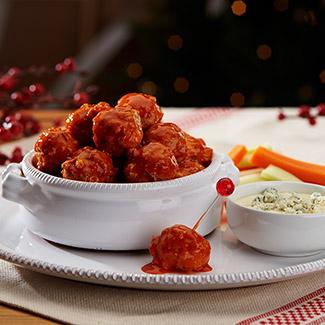 Mini Buffalo Chicken Meatballs