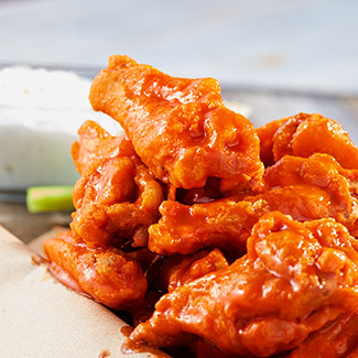 Buffalo Wings with Gorgonzola Dipping Sauce