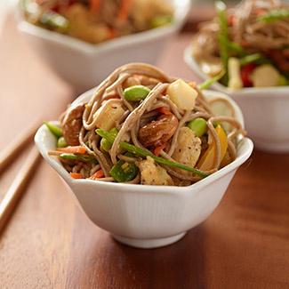 Cashew Chicken Soba Noodle Salad