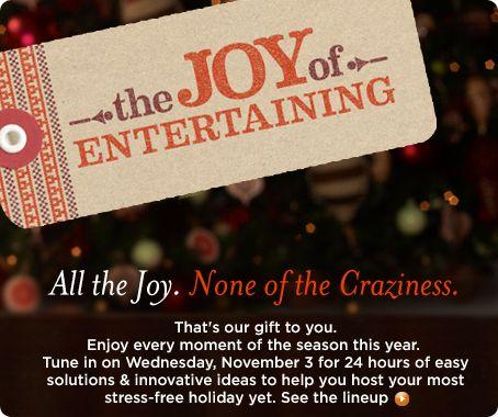 The Joy of Entertaining