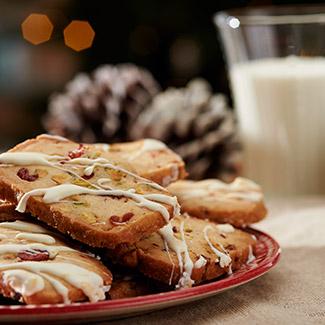 Cranberry-Pistachio Shortbread Cookies