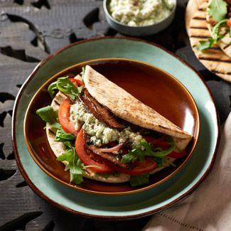 Vegetable Gyros with Feta Sauce