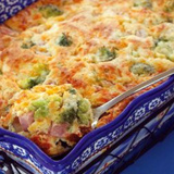 Cheesy Ham & Broccoli Spoonbread