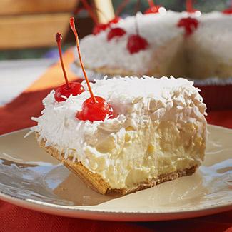 No-Bake Piña Colada Pie