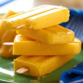 Pineapple-Mango Popsicles