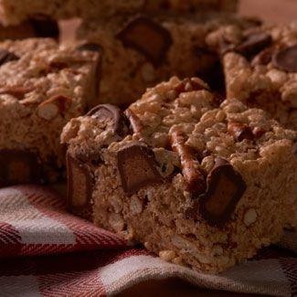 Pretzel Peanut Butter Rice Crispy Treats