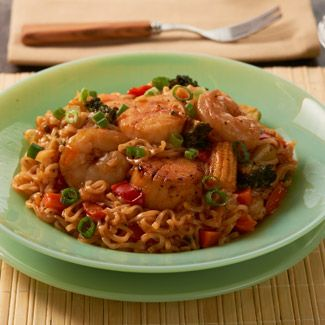 Sweet and Sour Shrimp and Scallops