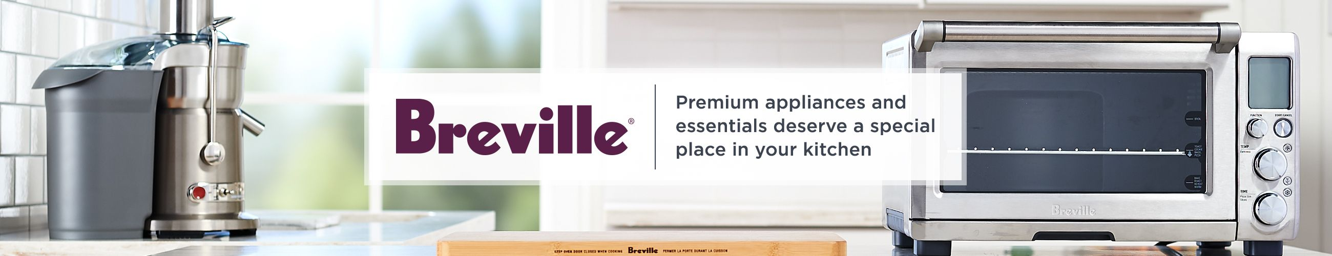 Breville. Premium appliances and essentials deserve a special place in your kitchen