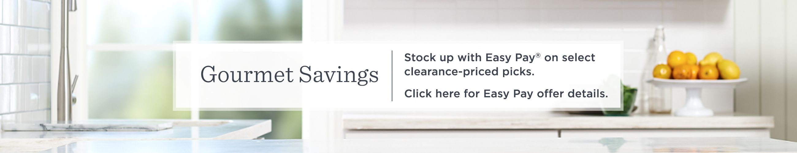 Superbe Click Gourmet Savings Stock Up With Easy Pay® On Select Clearance Priced  Picks. Click