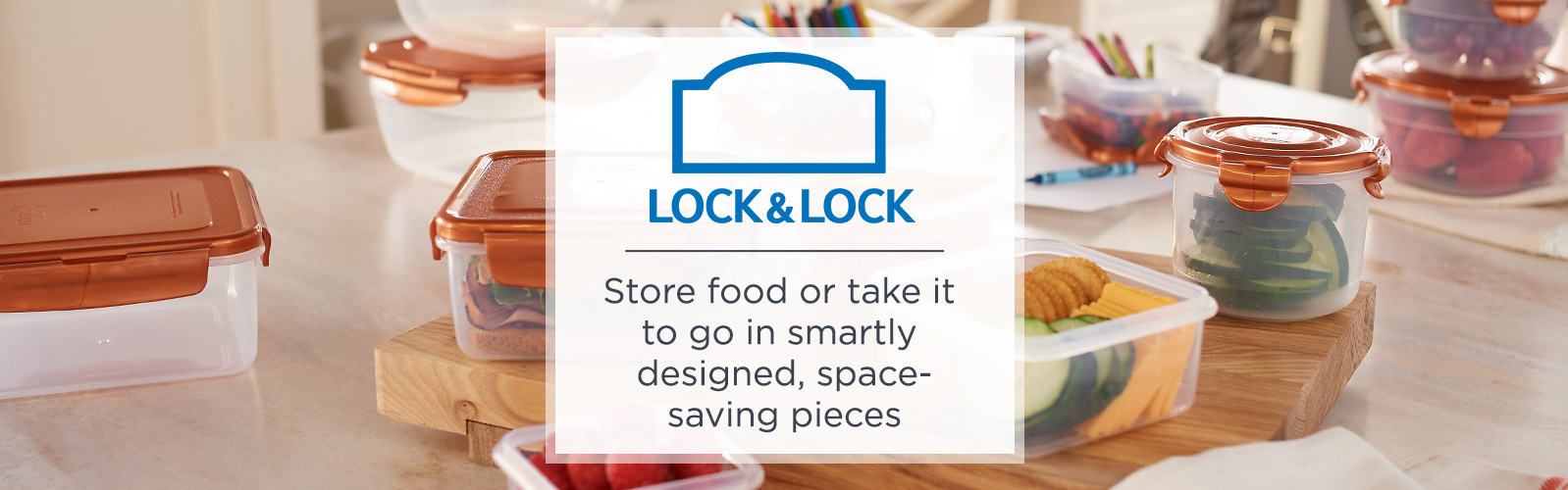 Lock & Lock - Store food or take it to go in smartly designed, space-saving pieces