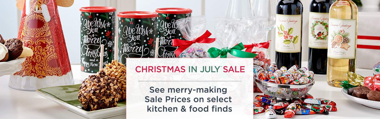 Christmas in July Sale. See merry-making Sale Prices on select kitchen & food finds