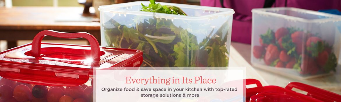 Everything in Its Place  Organize food & save space in your kitchen with top-rated storage solutions & more