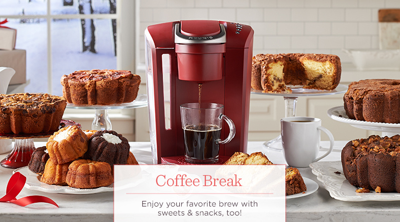 Coffee Break. Enjoy your favorite brew with sweets & snacks, too!