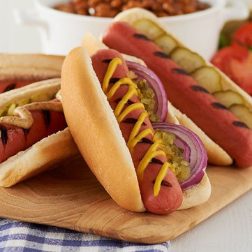 Hot Dogs. Grab a bun & enjoy this picnic favorite