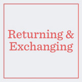 Returns & Exchanges