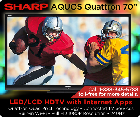 AQUOS Quattron 70-inch LED/LCD 240Hz HDTV with Internet Apps