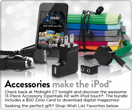 13-Pc. Accessory Essentials Kit with iPod touch® & $50 ZinioCard