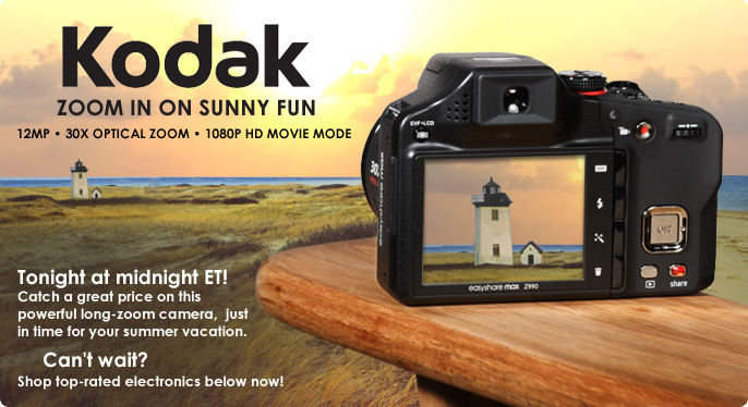 Kodak 12MP 30x Optical Zoom Digital Camera with 1080p HD Movie Mode