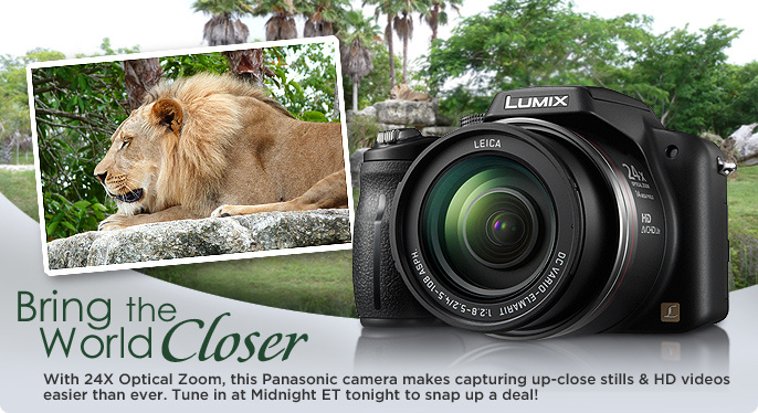 Panasonic 14MP 24X Optical Zoom Camera with HD Movie Mode & Software