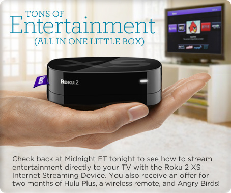 Roku 2 XS Internet Streaming Device with 2Months Hulu Plus Offer