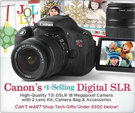 Canon EOS Rebel T3i DSLR 18.0MP Camera with 2 lens Kit & Camera Bag