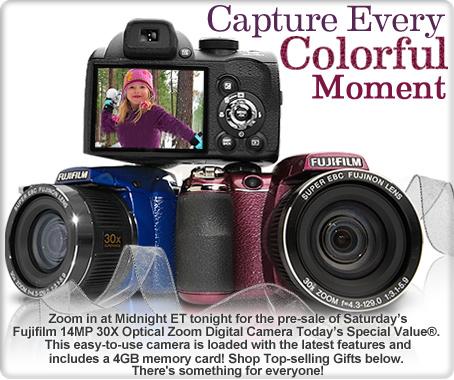 Fujifilm 14MP 30x Optical Zoom Digital Camera w/4GB SD Card