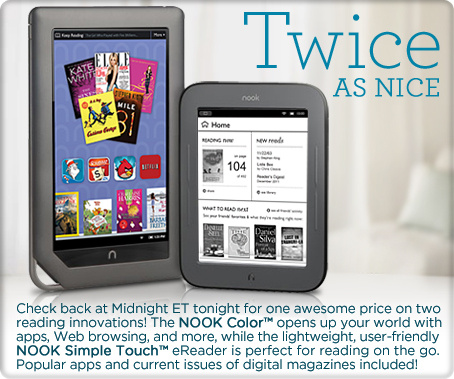 NOOK Color with Content, NOOK Simple Touch with Cover & More
