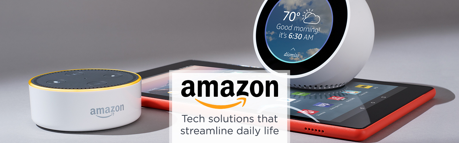 Amazon. Tech solutions that streamline daily life