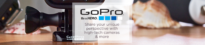 GoPro. Share your unique perspective with high-tech cameras & more
