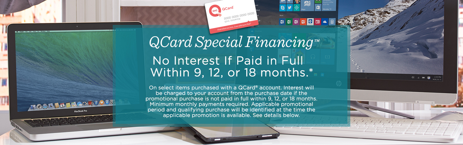 QCard Special Financing Electronics QVC – Sites With Payment Plans Like Qvc