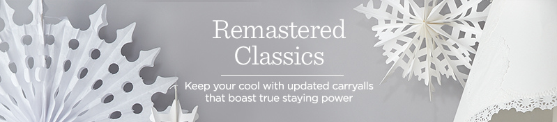 Remastered Classics, Keep your cool with updated carryalls that boast true staying power