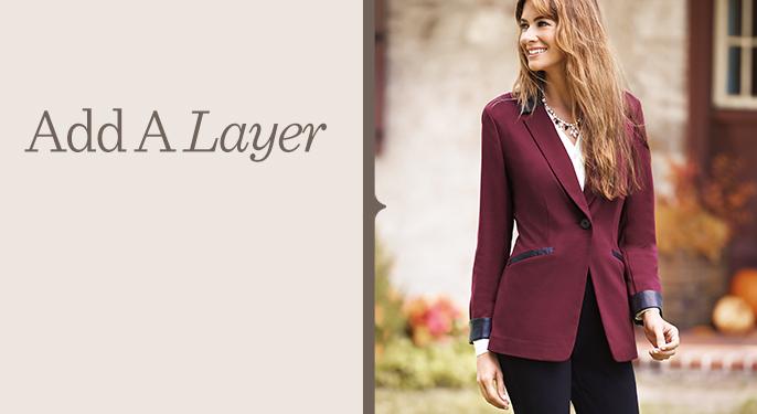 Susan Graver Ponte Jacket with Faux-Leather Trim