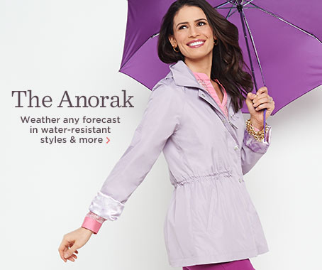 Dennis Basso Water-Resistant Anorak Jacket with Hood
