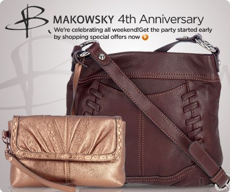 B. Makowsky glove-leather cross-body bag & wristlet