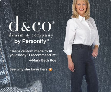 Denim & Co.® by Personify® customized jeans with patch pockets