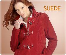Bradley by Bradley Bayou washable-suede A-line coat with hood